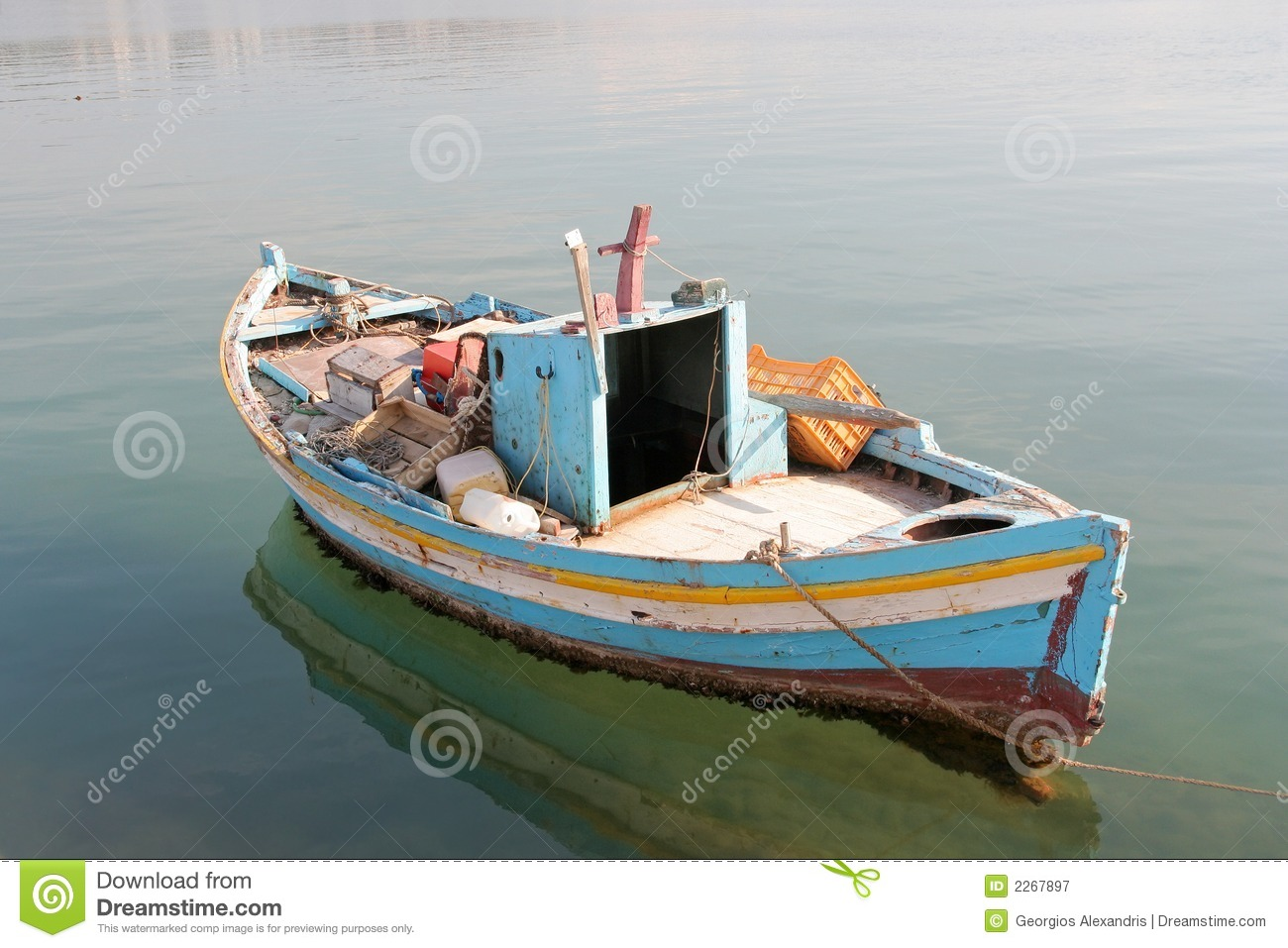 Anchored Little Fishing Boat