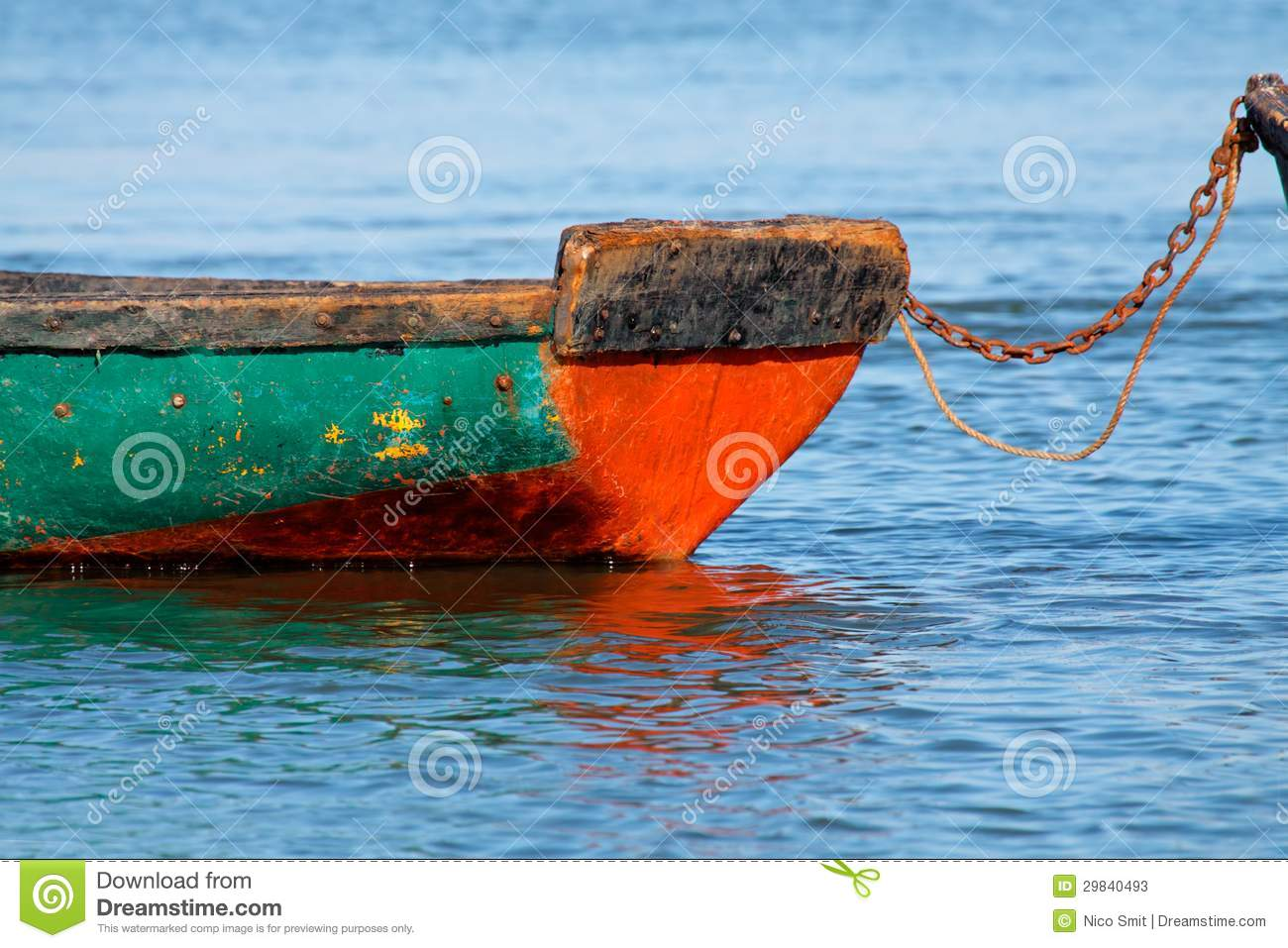 Boat on water stock image. Image of marine, chained, color - 29840493