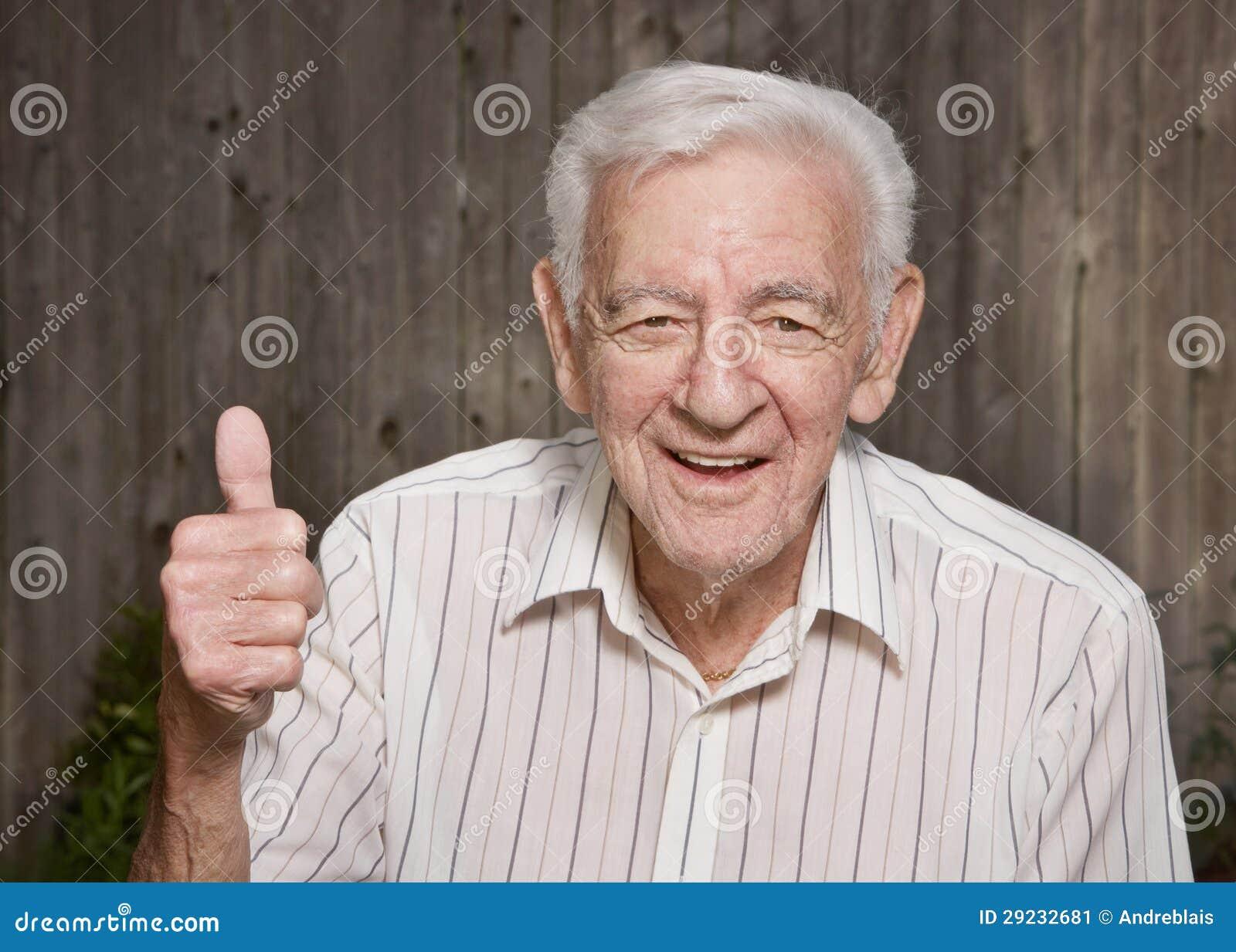 Download Ancião feliz imagem de stock. Imagem de amigável, envelhecido - 29232681