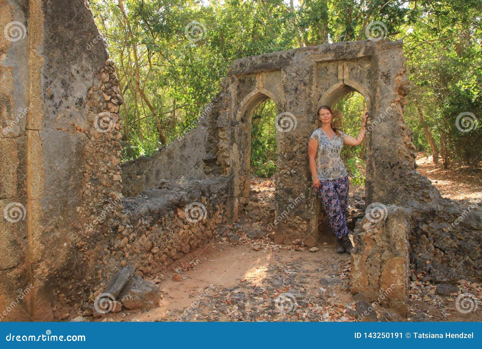 The ancient abandoned Arab city of Gede, near Malindi, Kenya. Classical Swahili architecture.