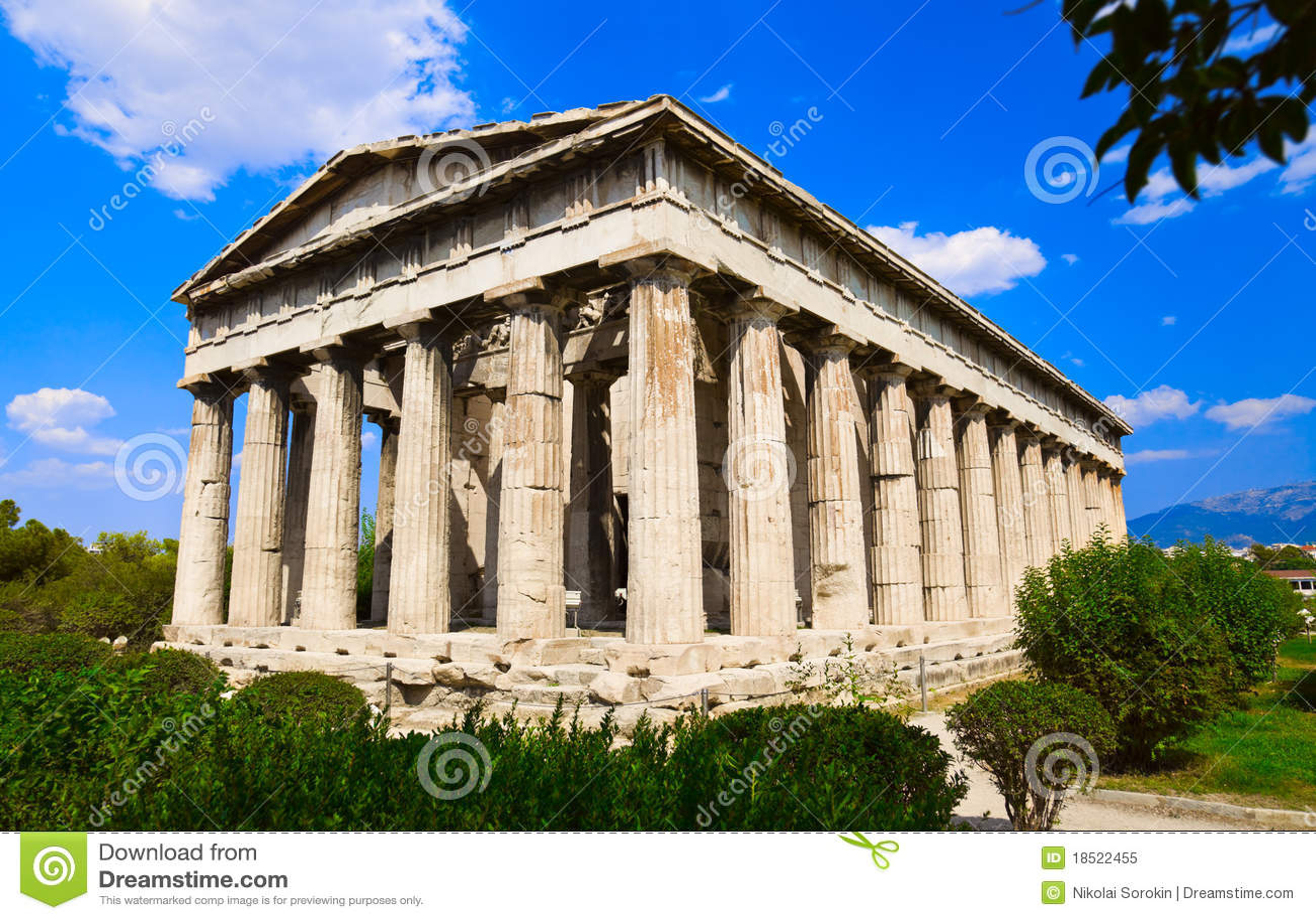 Ancient Agora At Athens, Greece Royalty Free Stock Photo - Image ...