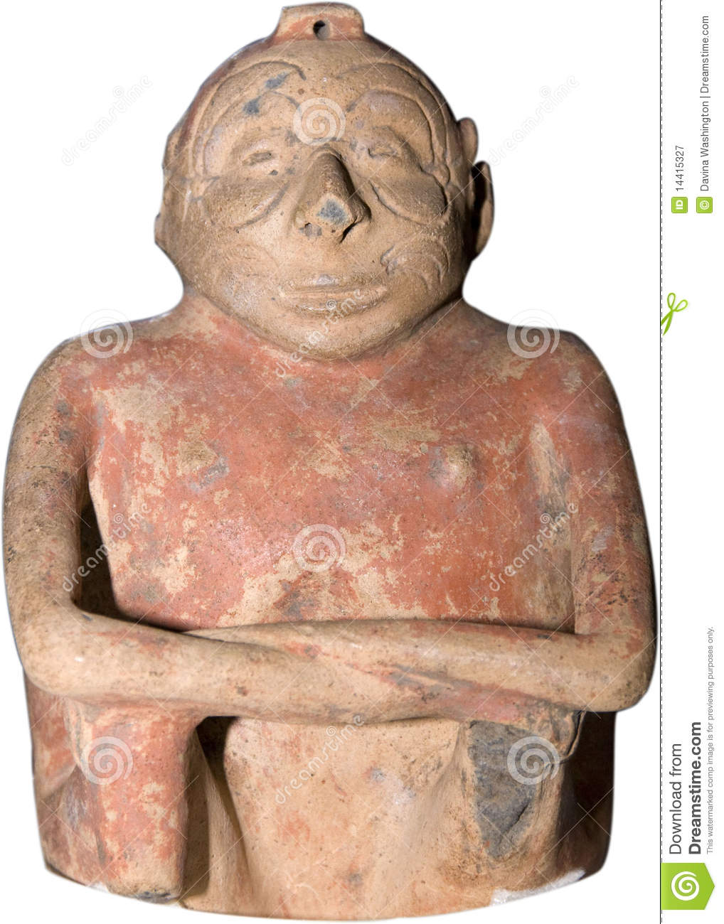 Ancient american carving stock image of handmade