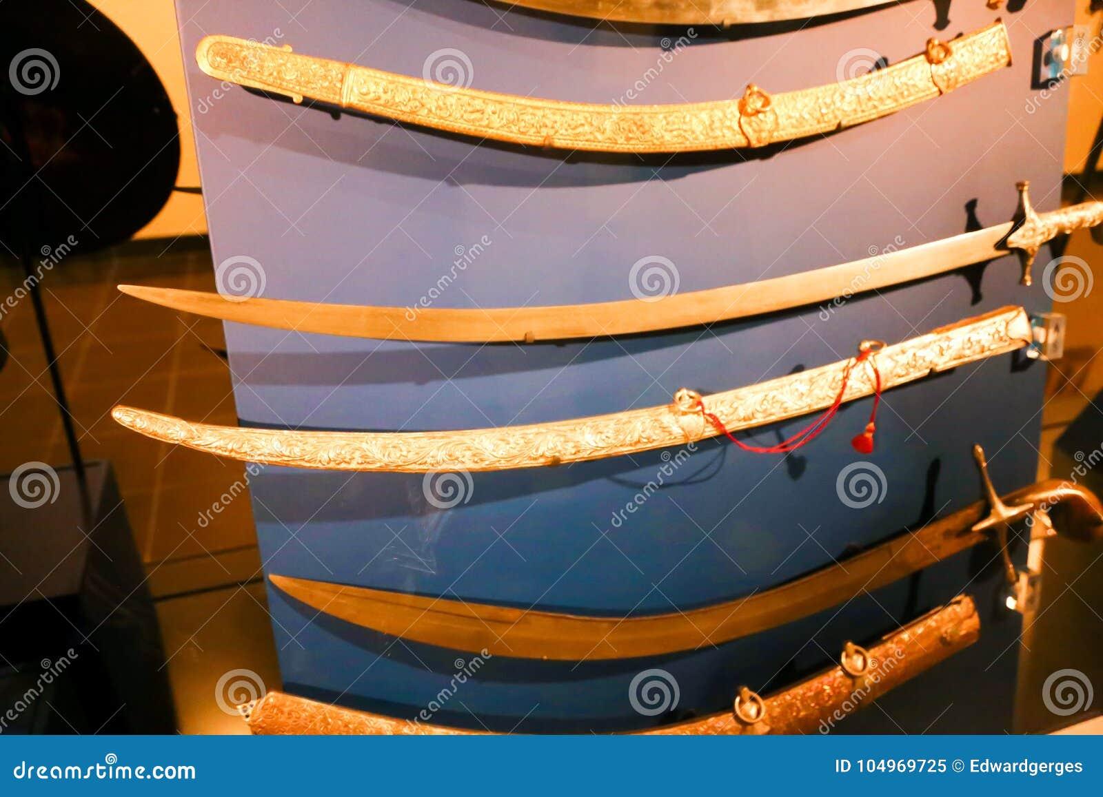 Arabian Swords Ancient Antiques - Sharjah Museum Editorial Image