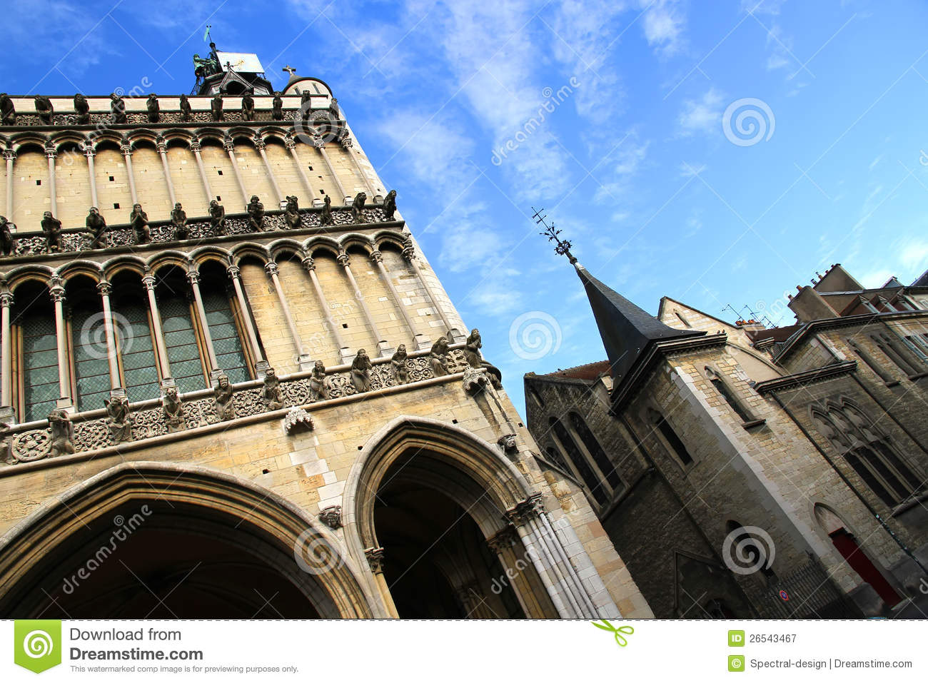 Ancient architecture in dijon royalty free stock for Dijon architecture