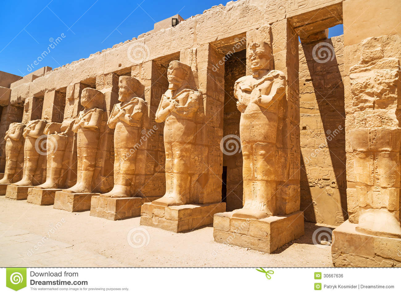 Ancient architecture of Karnak temple in Luxor