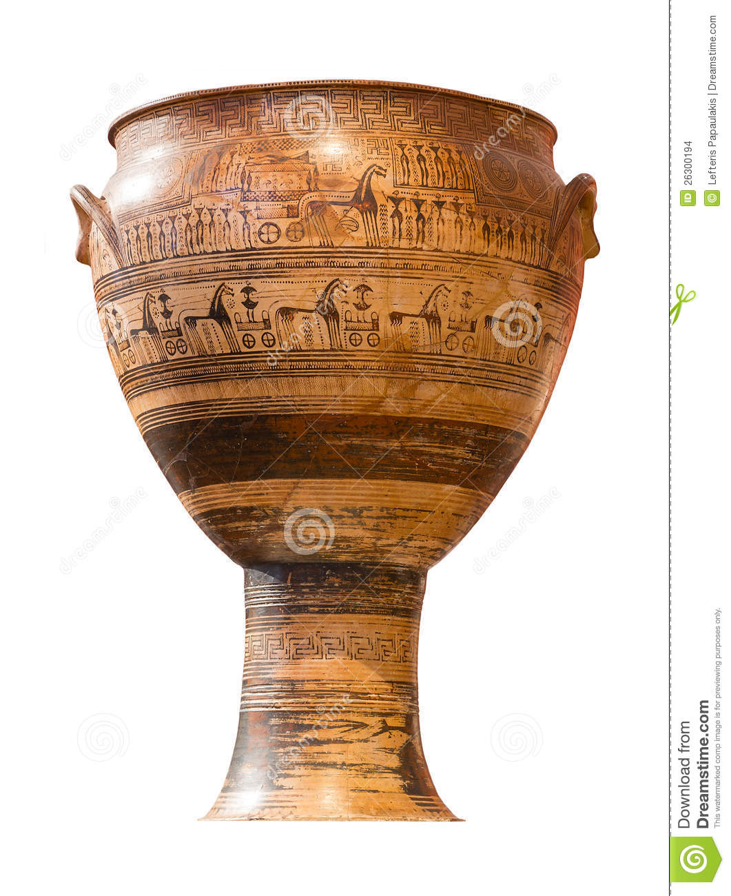 geometric krater A krater or crater (greek: κρατήρ, kratēr, lit mixing vessel) was a large vase in ancient greece , particularly used for watering down wine  contents.