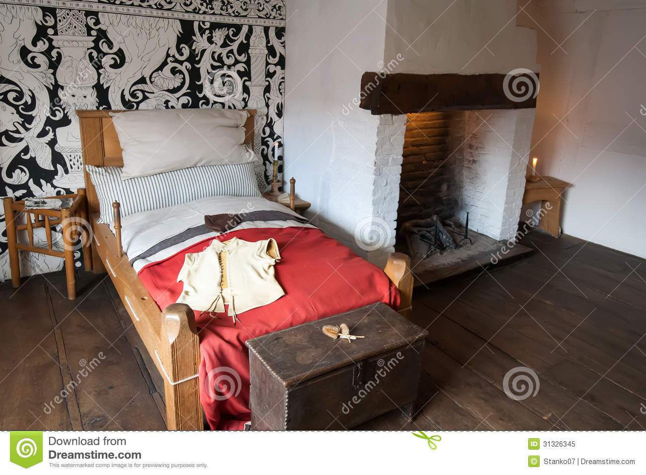 Ancient Bedroom Royalty Free Stock Image