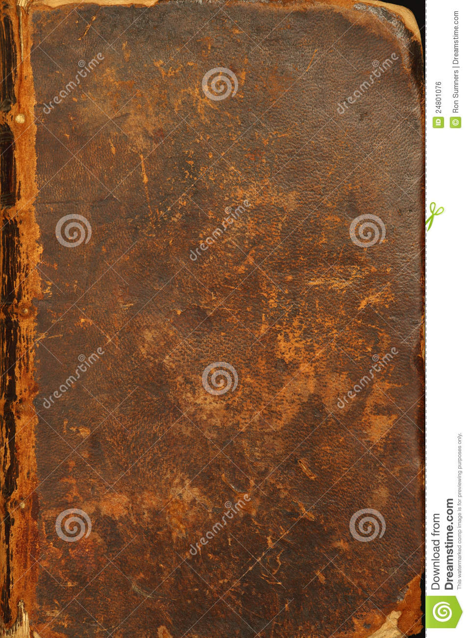Vintage Leather Look Jeremiah Verse Bible Book Cover Large: Ancient Bible Cover Royalty Free Stock Image