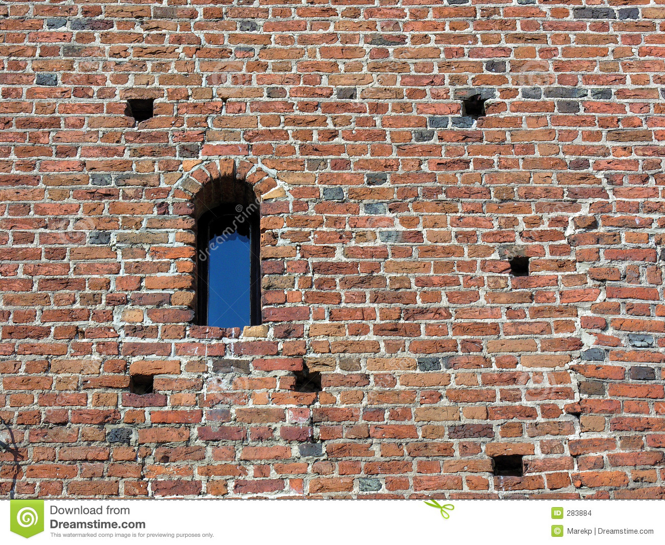 Ancient Brick Wall With Window Stock Photo Image 283884