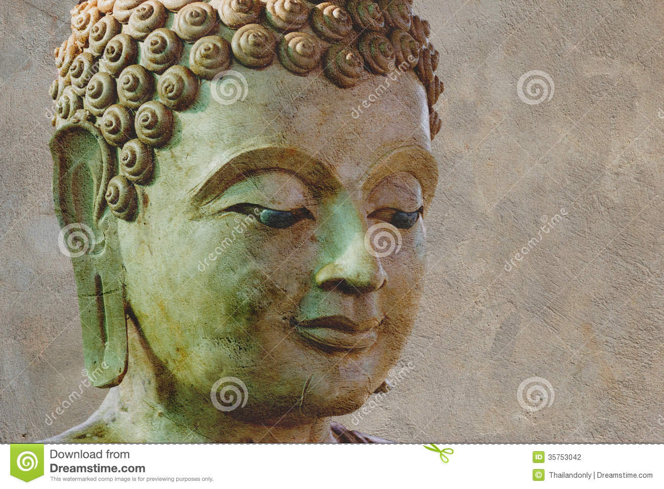 Ancient Buddha Face, Ayutthaya, Thailand Stock Photography - Image ...