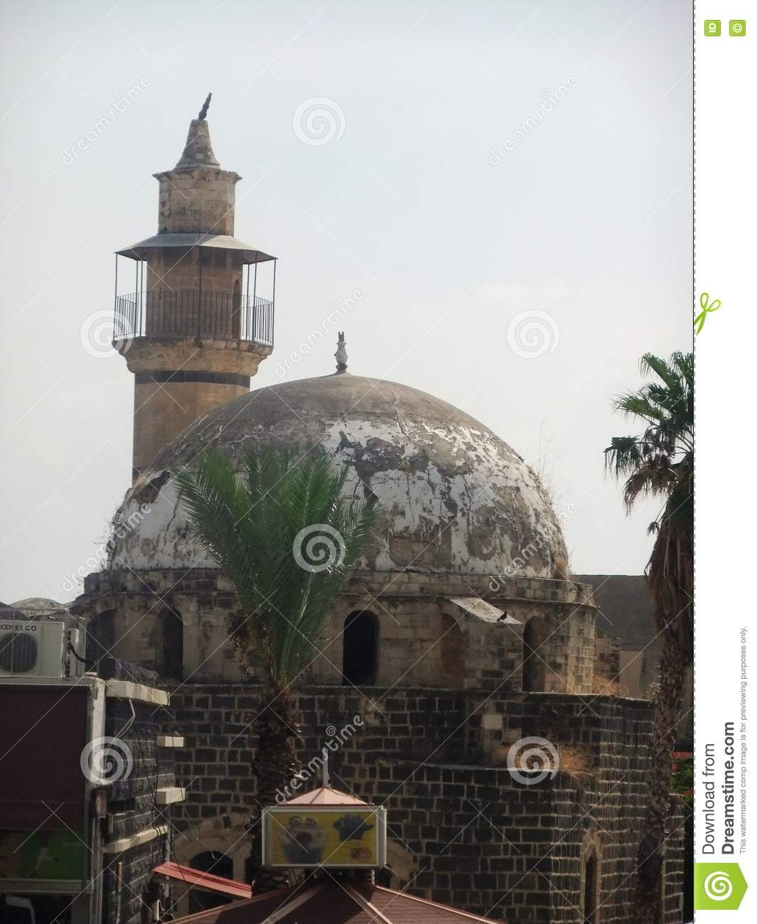 ancient building in tiberias stock image image of roof religion