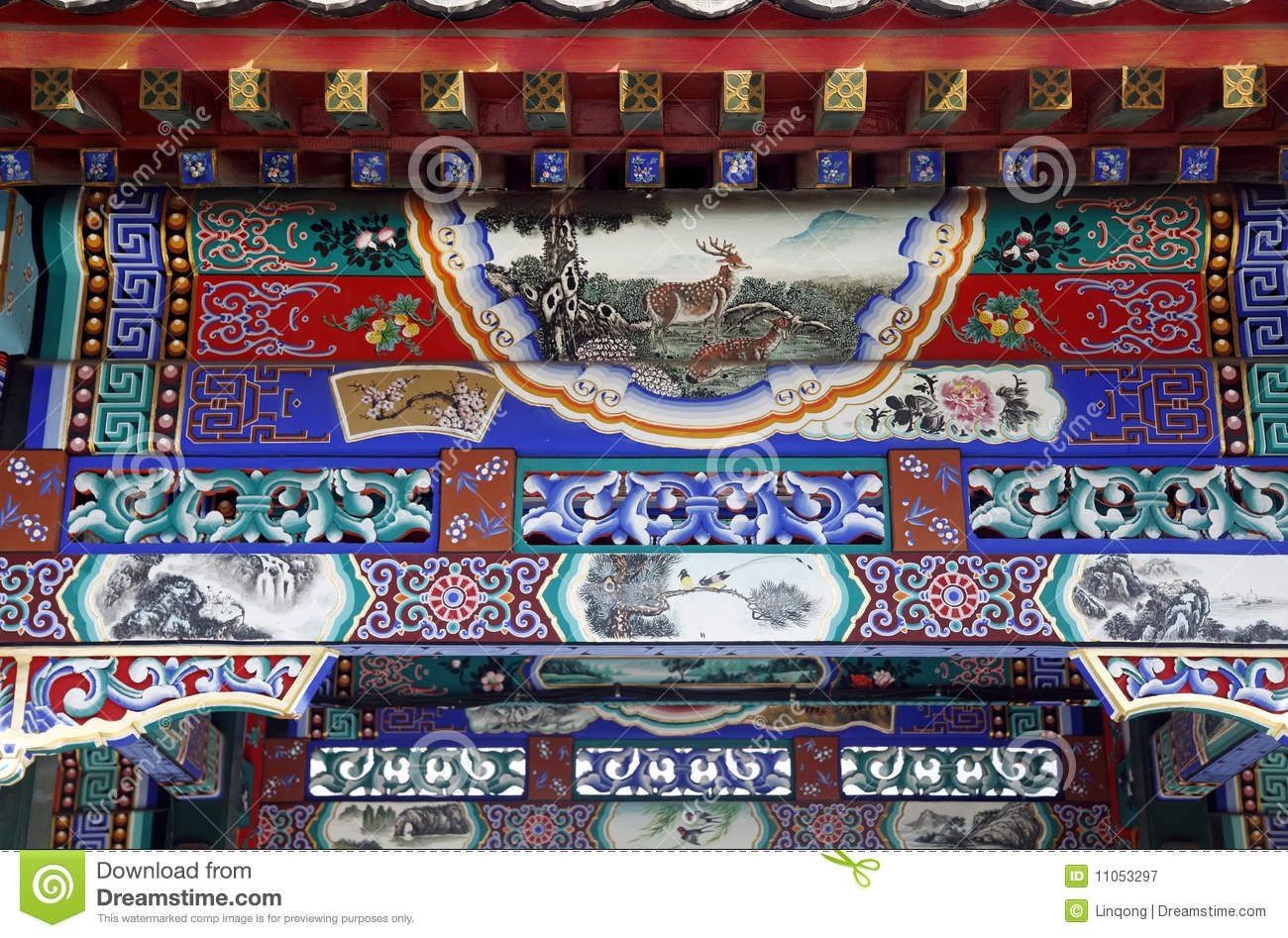 Ancient buildings decoration stock image image of for Ancient decoration