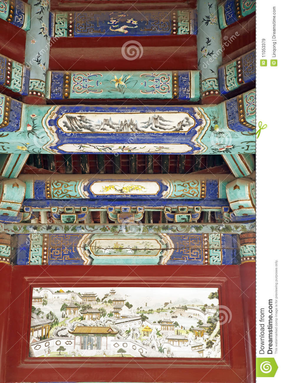 Ancient buildings decoration royalty free stock images for Ancient decoration