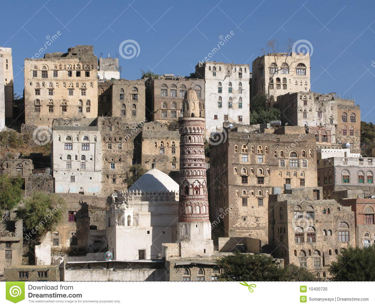 Ancient Buildings In Yemen Stock Photo Image 10400720
