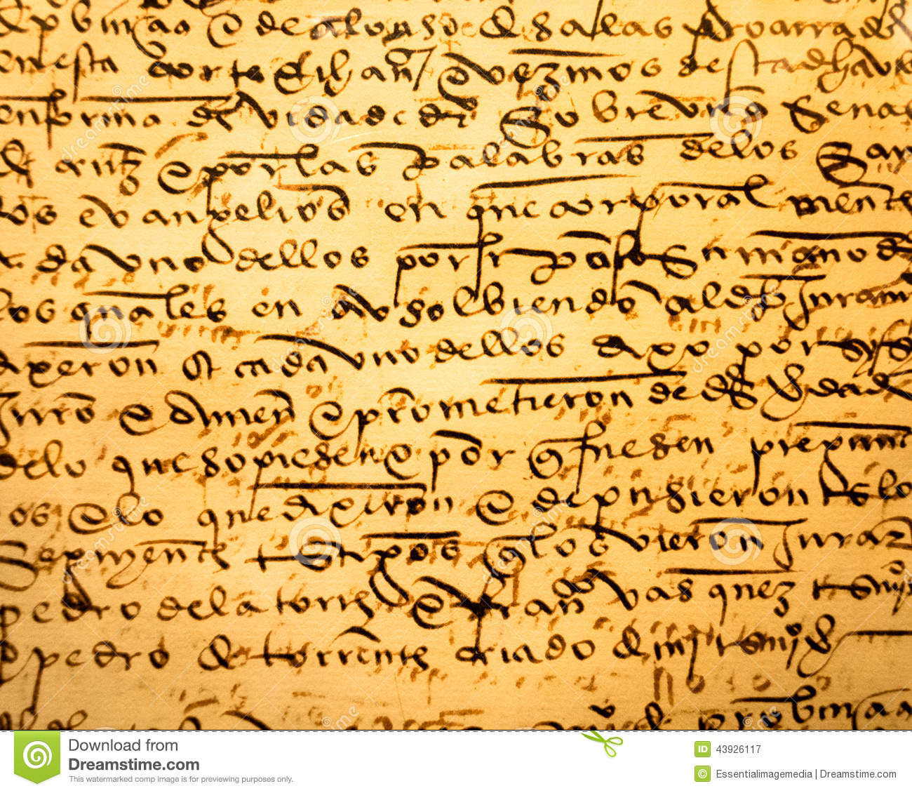 Ancient Calligraphy Stock Image Image Of History Note
