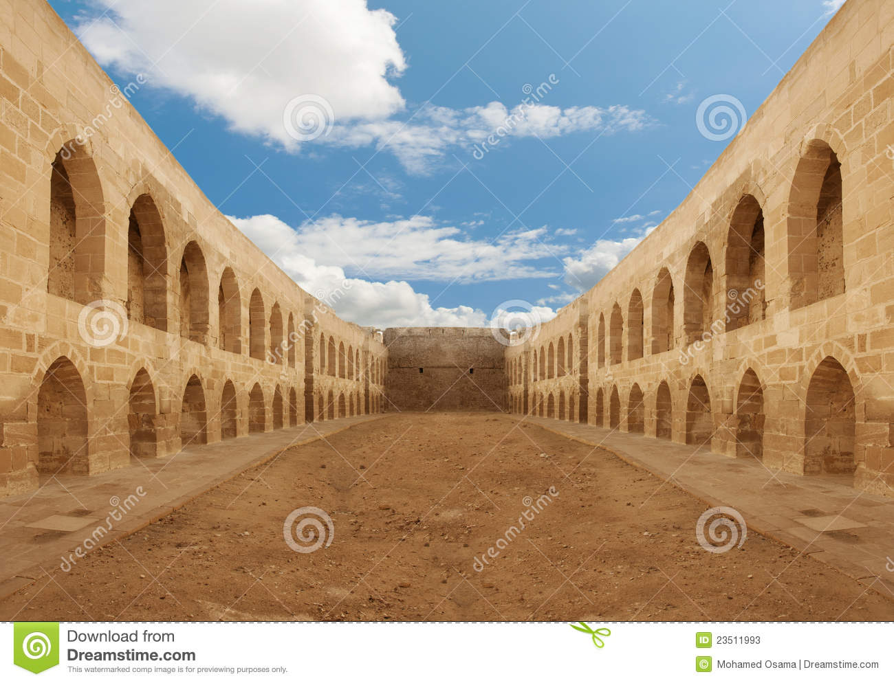 ancient castle backyard wall stock photos image 23511993