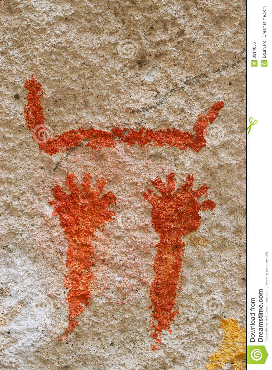 Ancient Cave Paintings In Patagonia Stock Image Image Of Stone