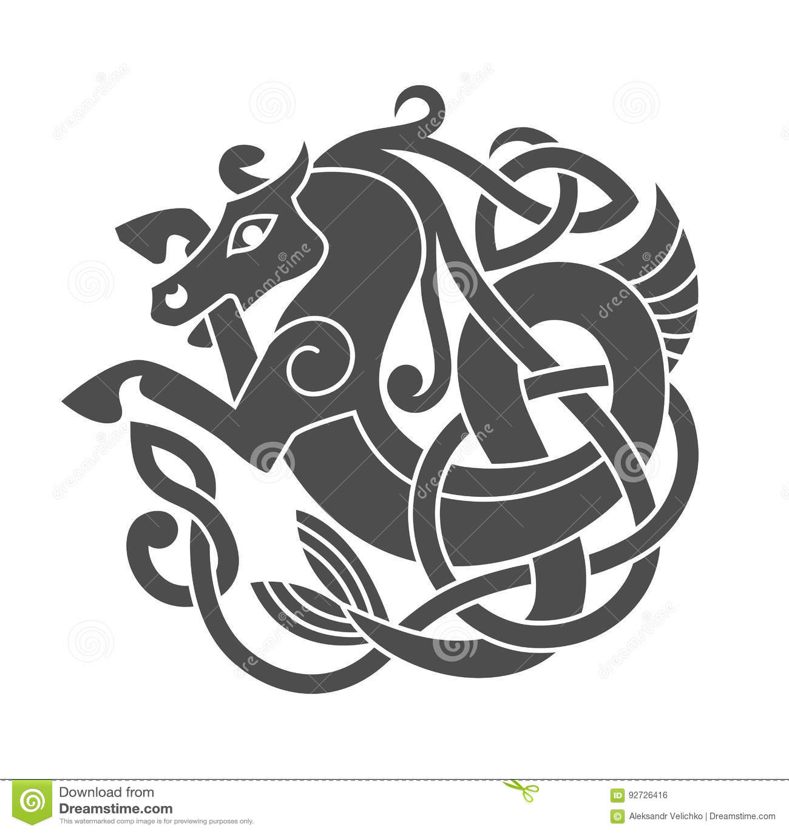 Ancient celtic mythological symbol of sea horse stock vector ancient celtic mythological symbol of sea horse biocorpaavc Choice Image