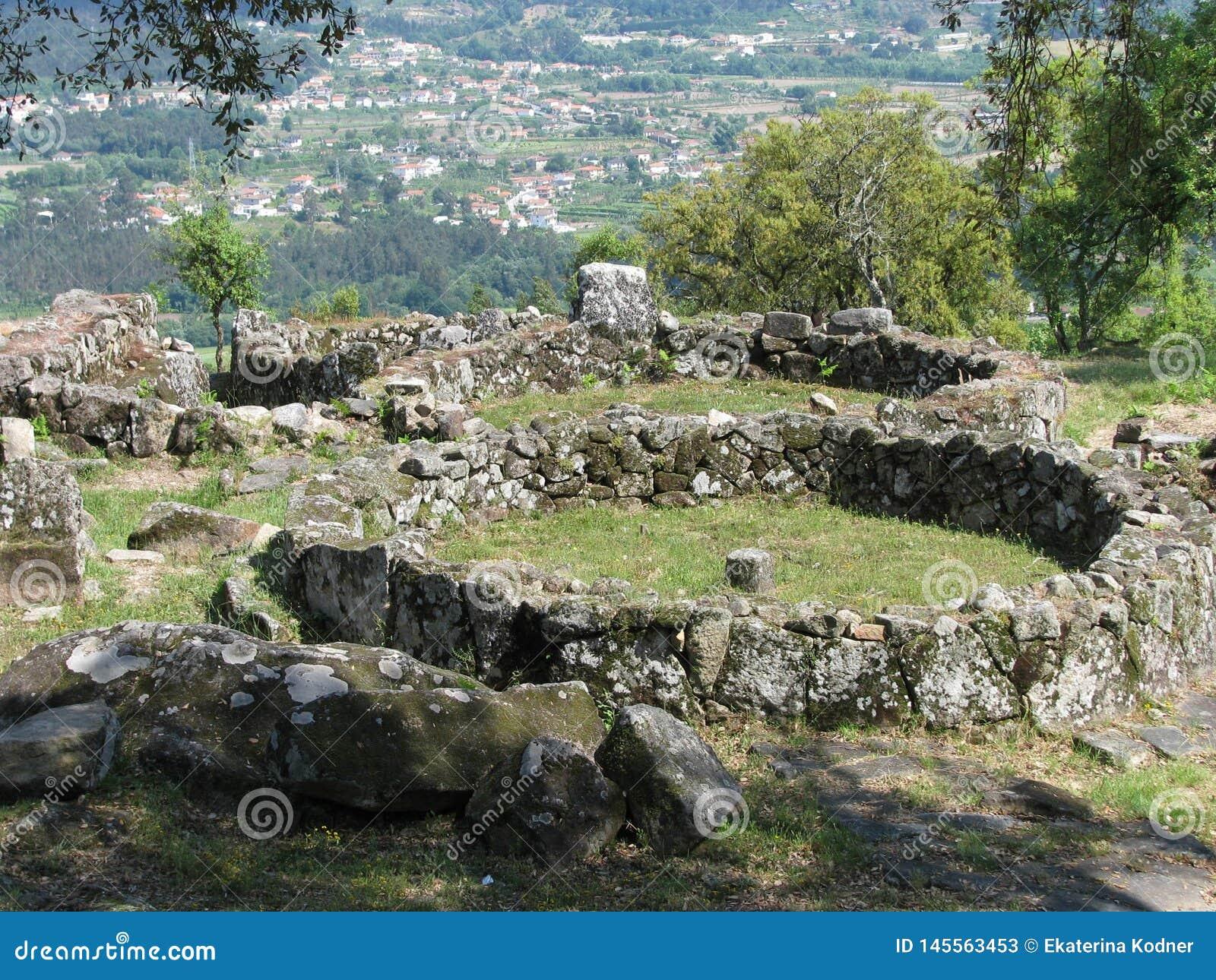 Ancient Celtic settlement Citania de Santa Luzia