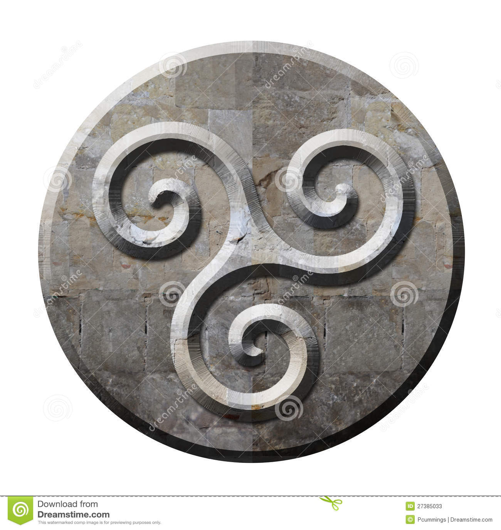 Ancient celtic triskele symbol in stone stock illustration ancient celtic triskele symbol in stone buycottarizona Images