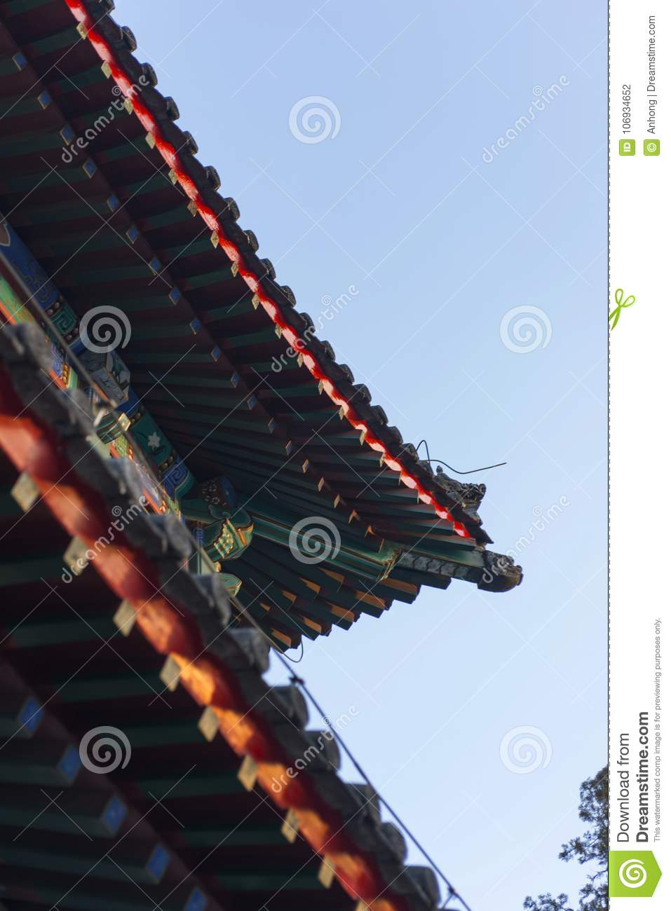 ancient chinese architecture detail features stock photo image of