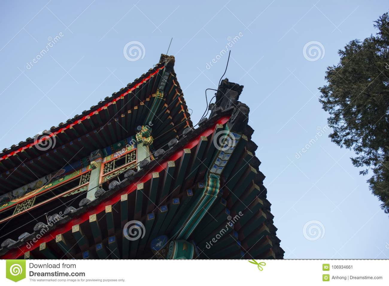 ancient chinese architecture detail features stock image image of