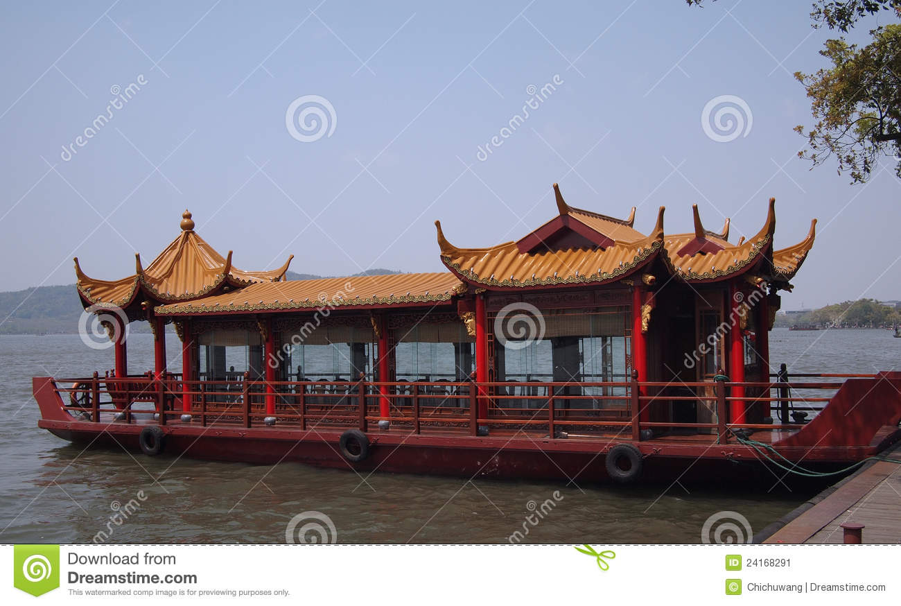 An Ancient Chinese Boat Stock Image Image 24168291
