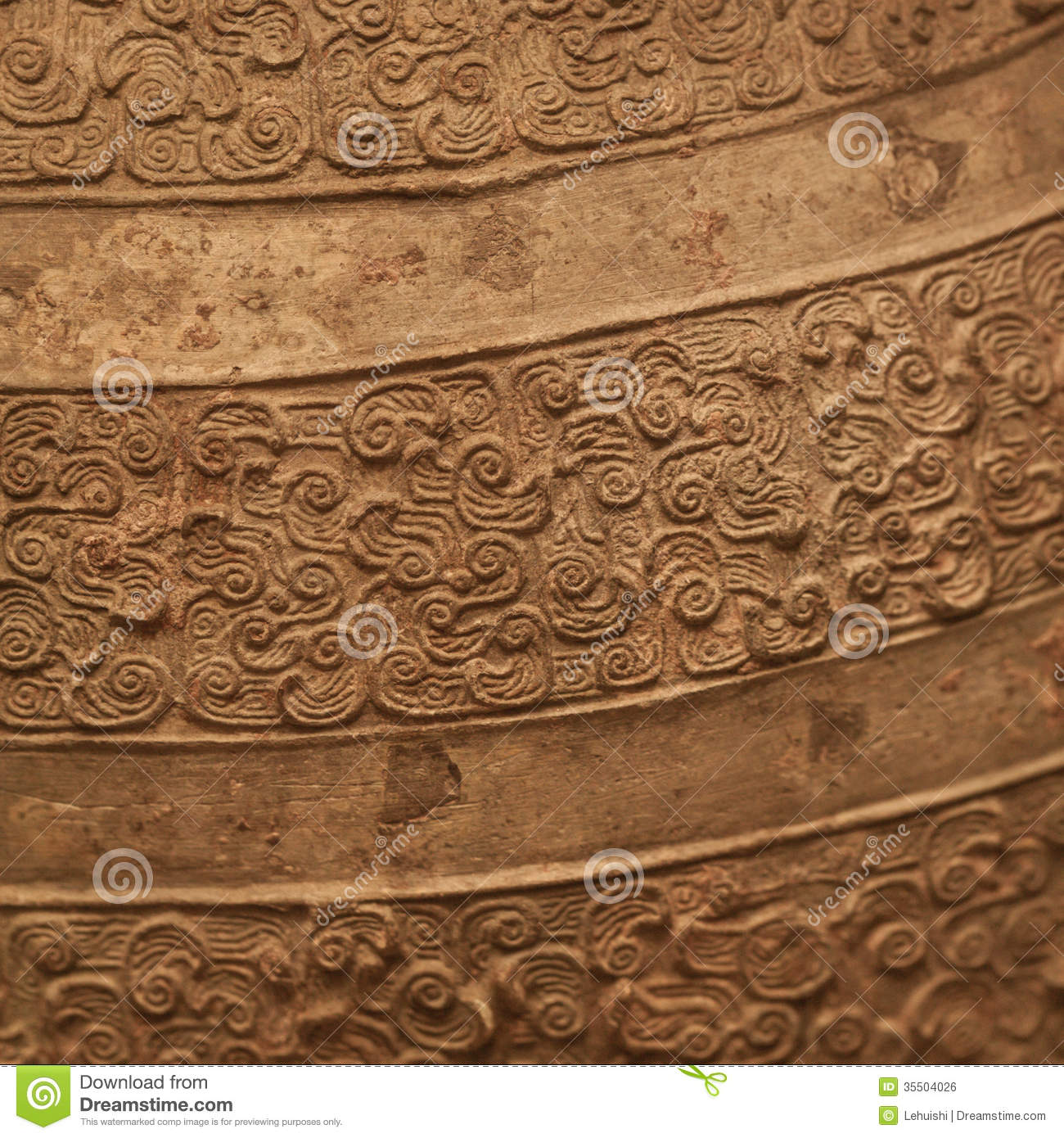 Ancient Chinese Bronze Textured Background Stock Photo Image Of