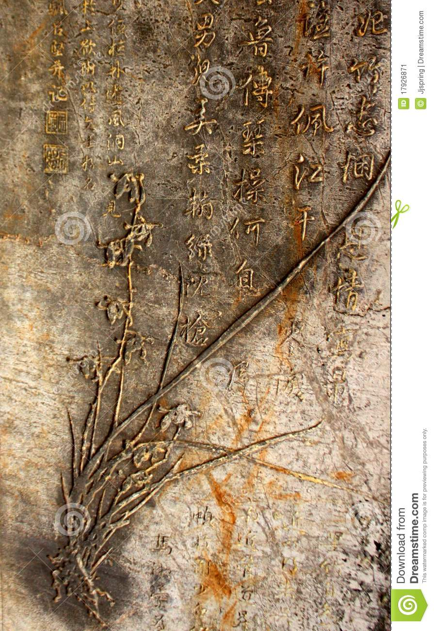 Ancient chinese calligraphy stock image image 17926871 Ancient china calligraphy