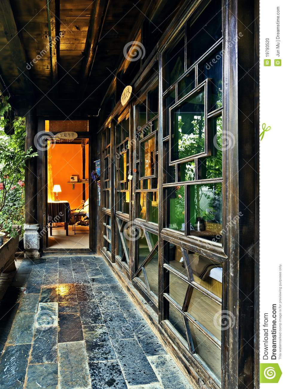 Ancient chinese home interior - Ancient Chinese House Interior Stock Photo