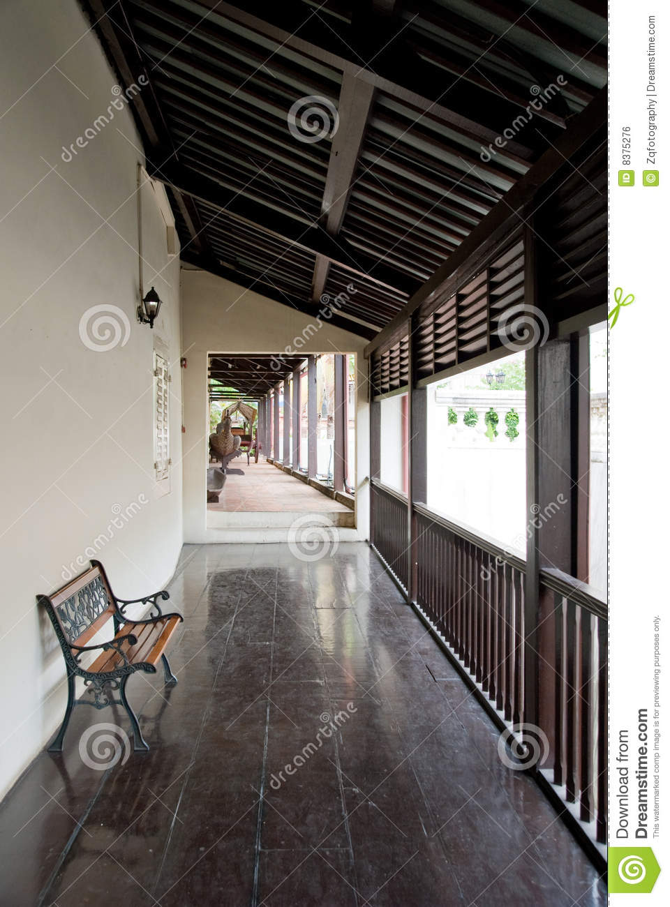Ancient Chinese House Interior Stock Photo Image 8375276