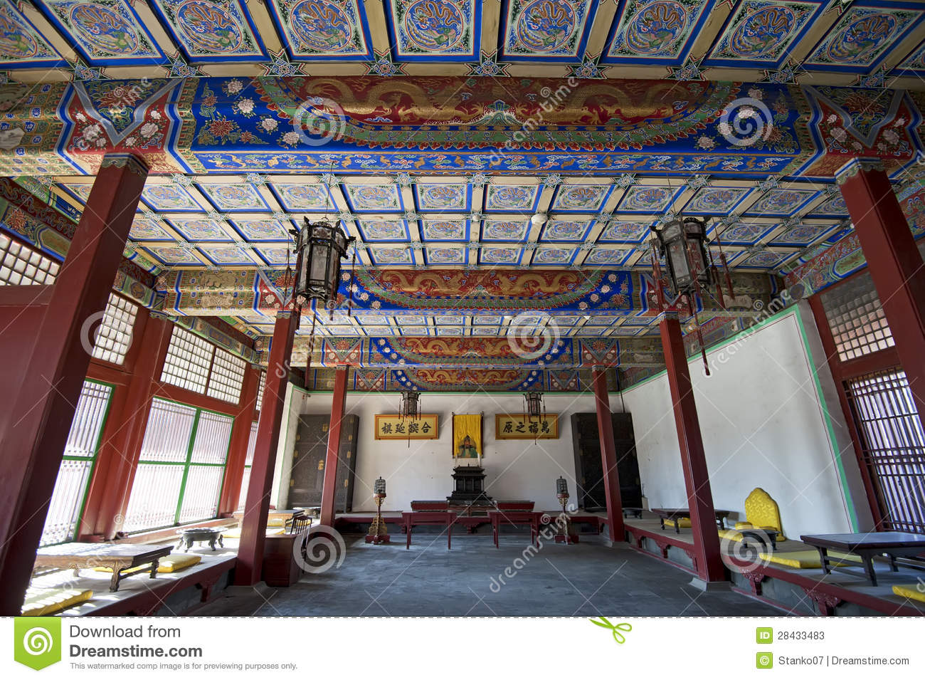 Ancient Chinese Livingroom Editorial Stock Photo Image 28433483