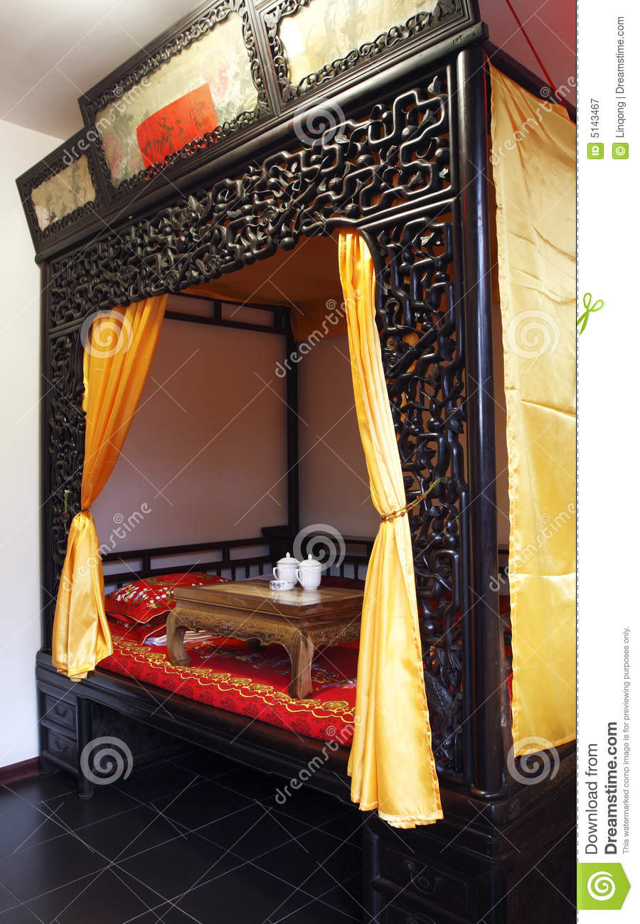 Ancient Chinese Style Bedroom Stock Image Image Of Traditional