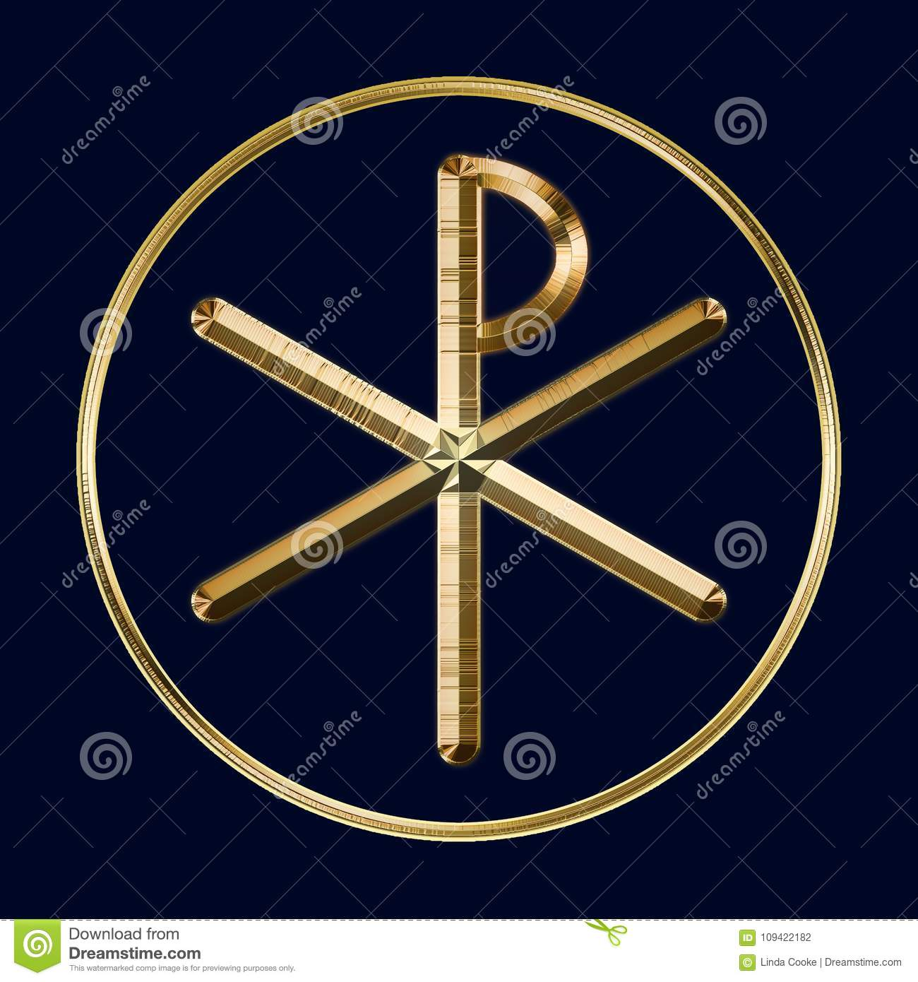 Chi Rho Symbol On Blue Stock Illustration Illustration Of Symbols