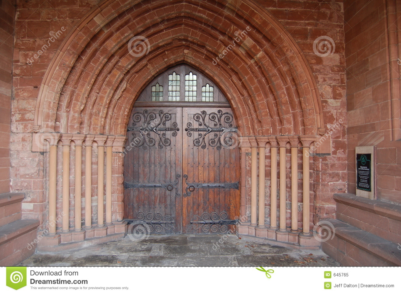 Ancient Church Door Stock Image Image Of Black Religion