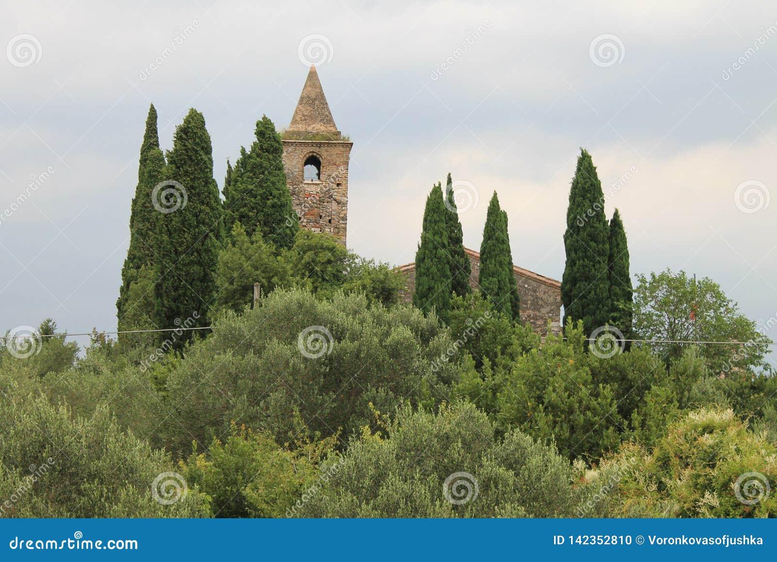 Ancient Church of San Pietro in Mavino in Sirmione Italy