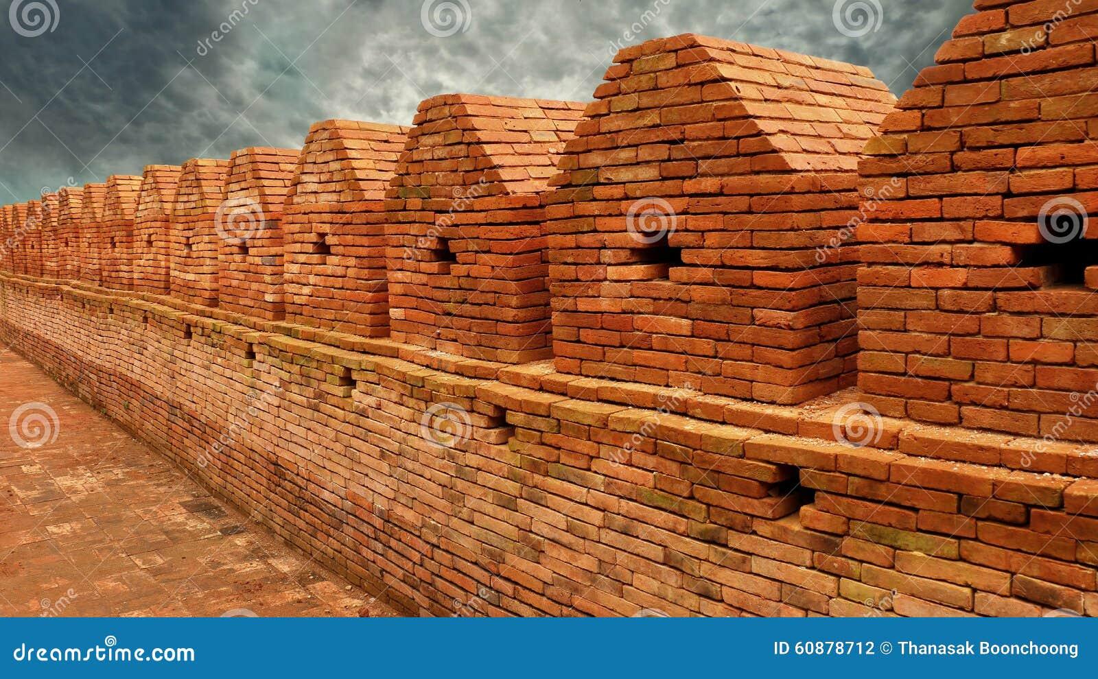 Ancient City Brick Wall Stock Photo - Image: 60878712