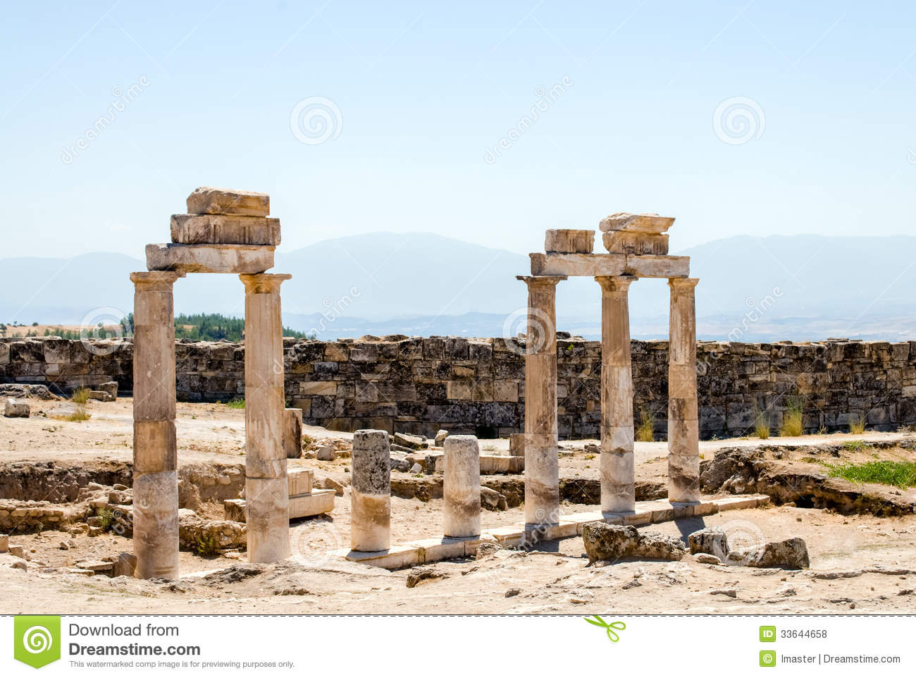 Ancient City Of Hierapolis Royalty Free Stock Photos - Image: 33644658