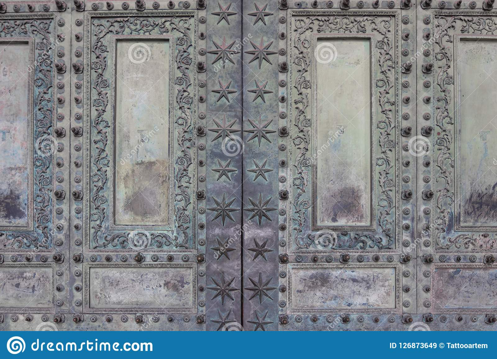 Ancient copper doors of the basilica of St. Giovanni in Rome, It