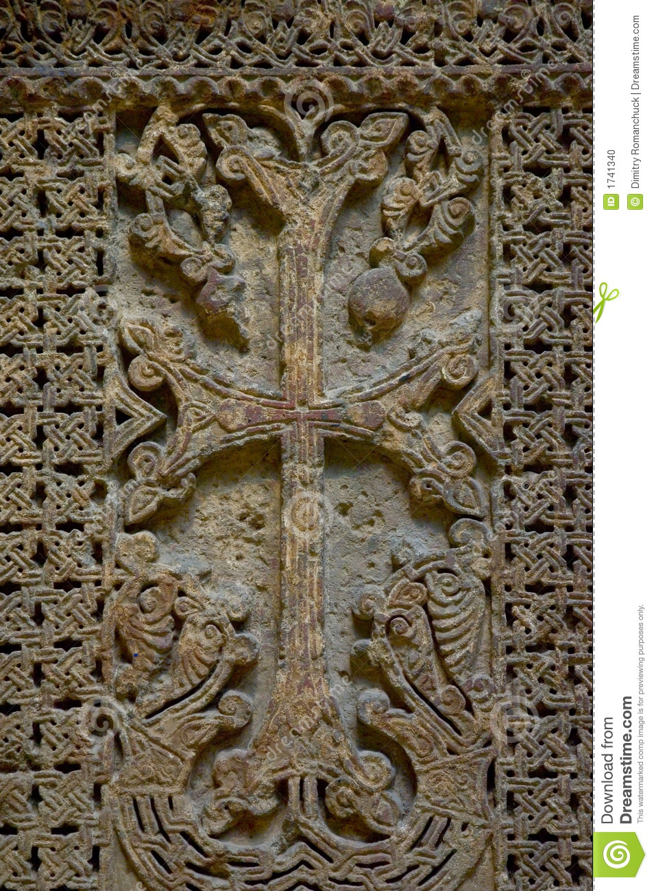 Ancient Cross Stock Photo Image 1741340