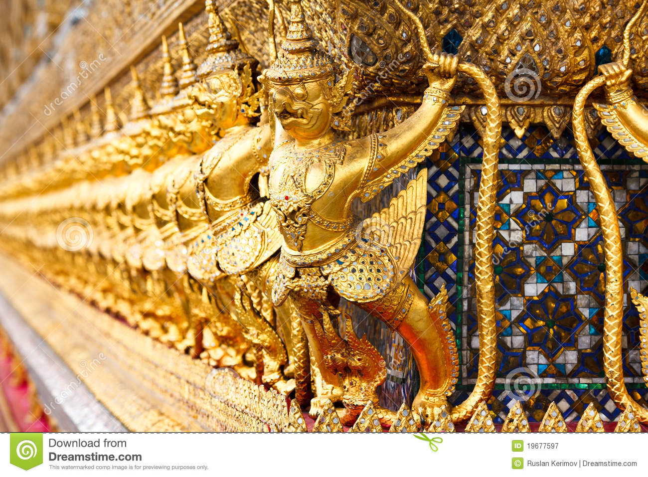 Ancient decoration at wat prakaew royalty free stock for Ancient decoration