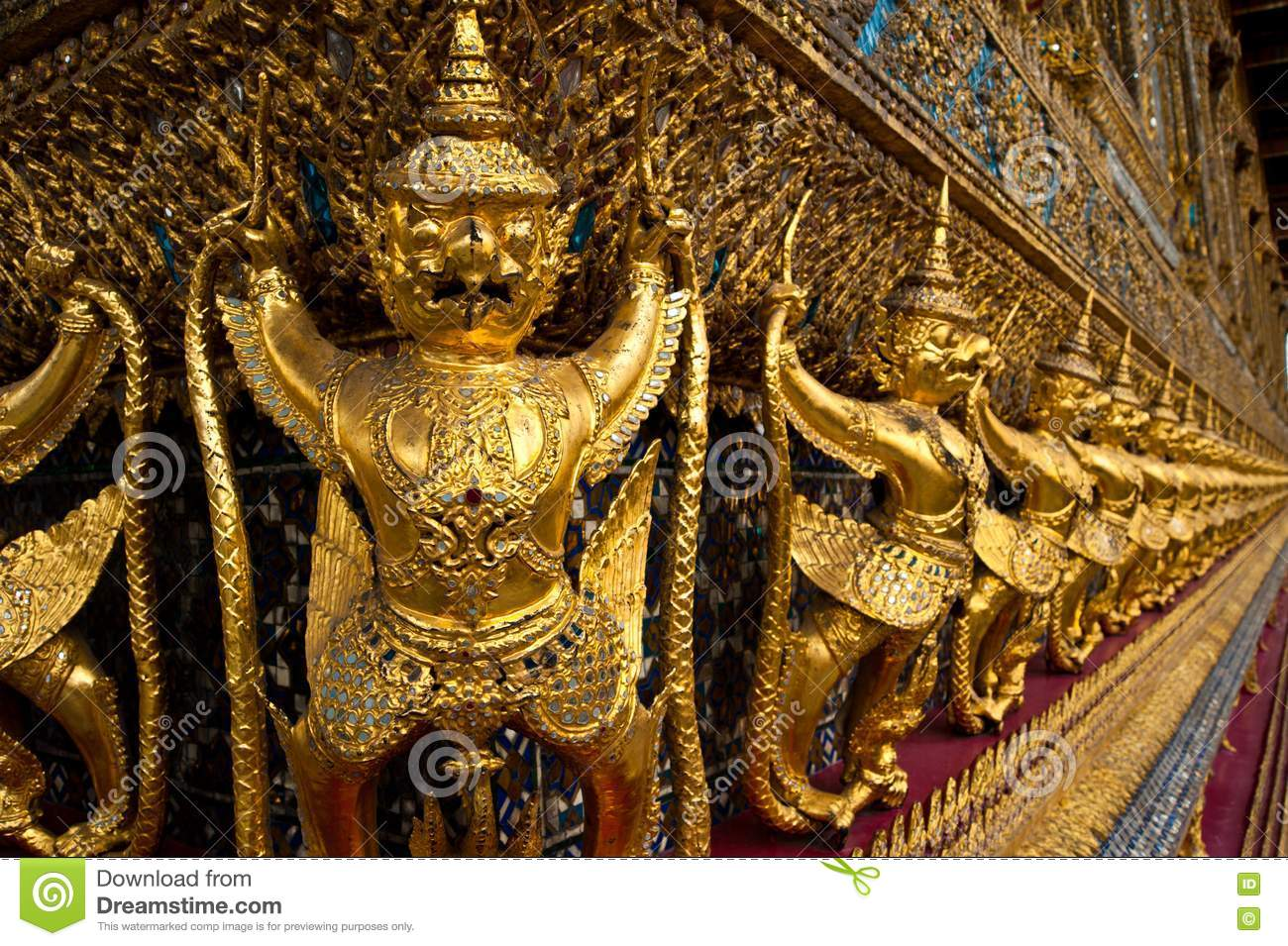Ancient decoration at wat prakaew royalty free stock image for Ancient decoration