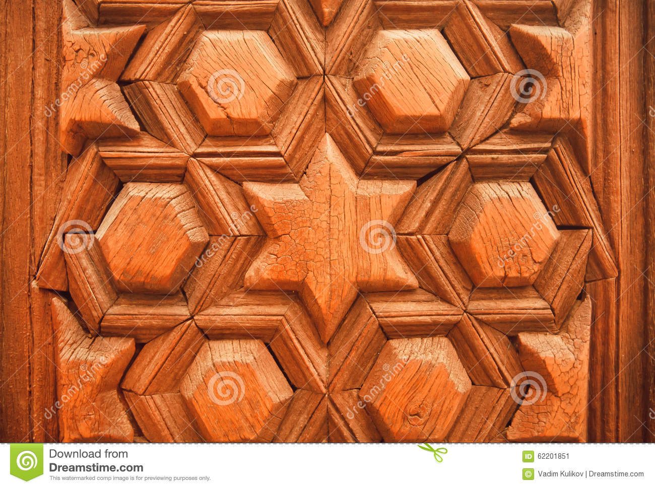 Ancient design with islamic patterns on historical wooden for Wooden door pattern