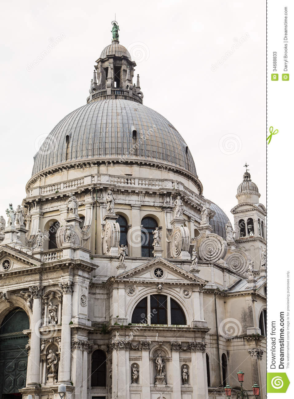 Ancient Domed Church In Venice Stock Image Image Of Wall
