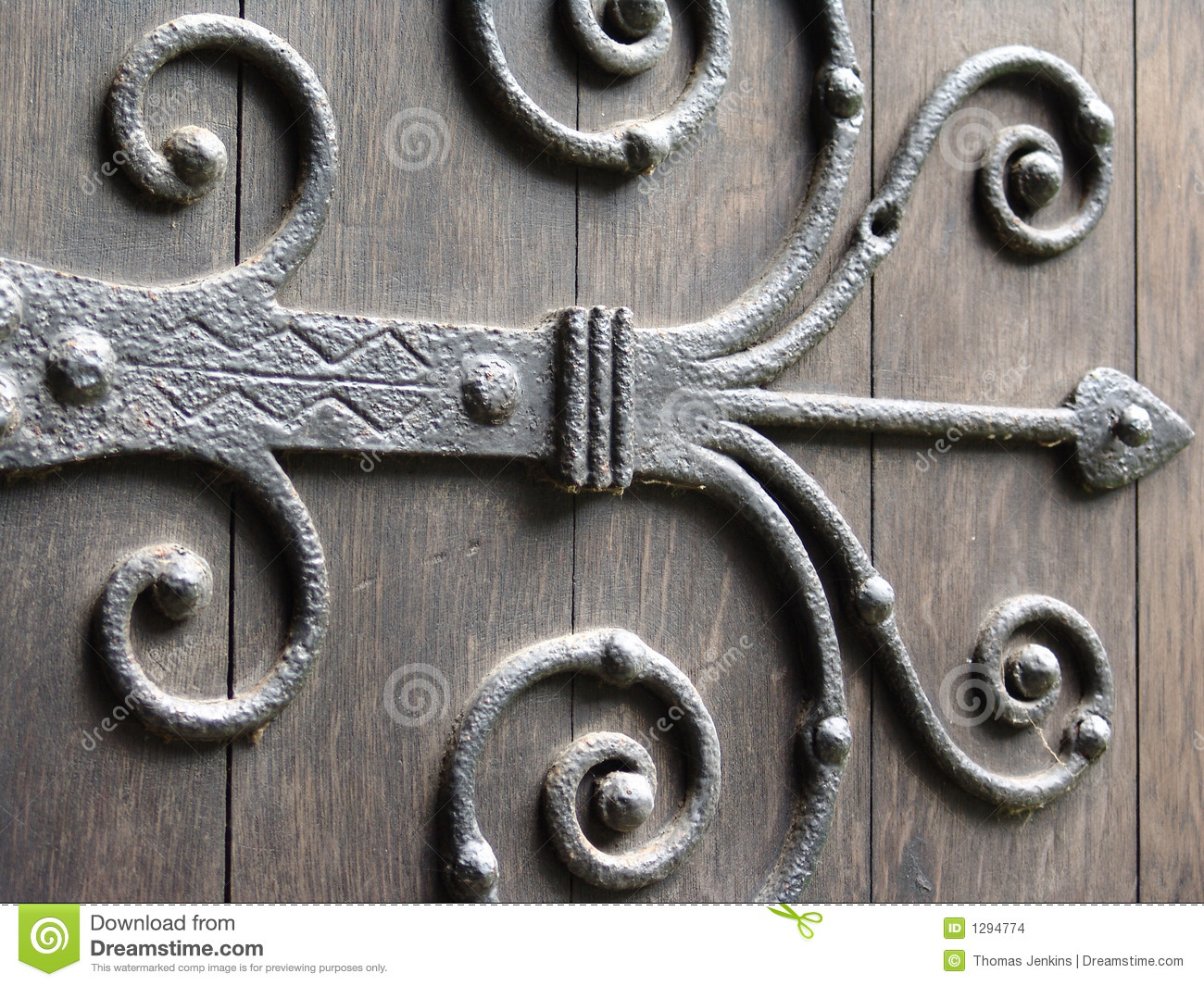 Ancient Door Hinge Stock Photo Image Of Iron Orante