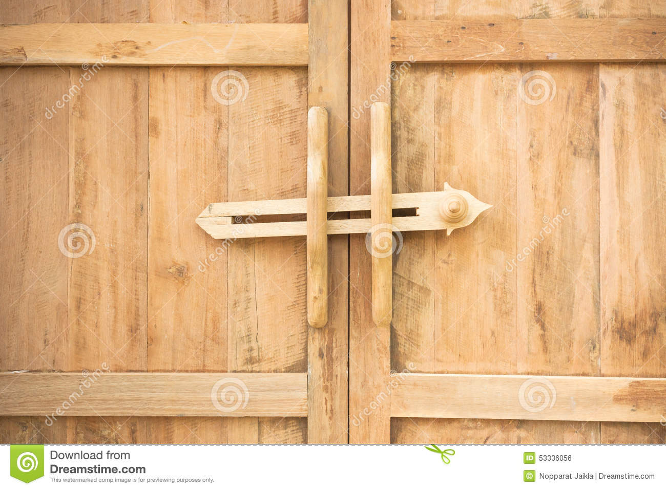 Ancient Door Latch Traditional Ancient Wooden Door Latch