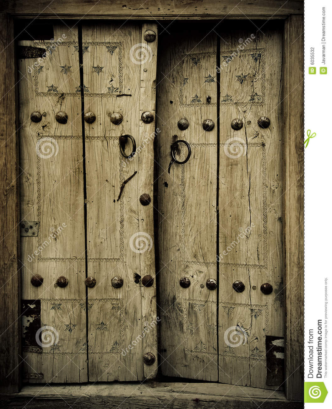 Ancient doors stock photo image of grunge closed decor for Puertas viejas