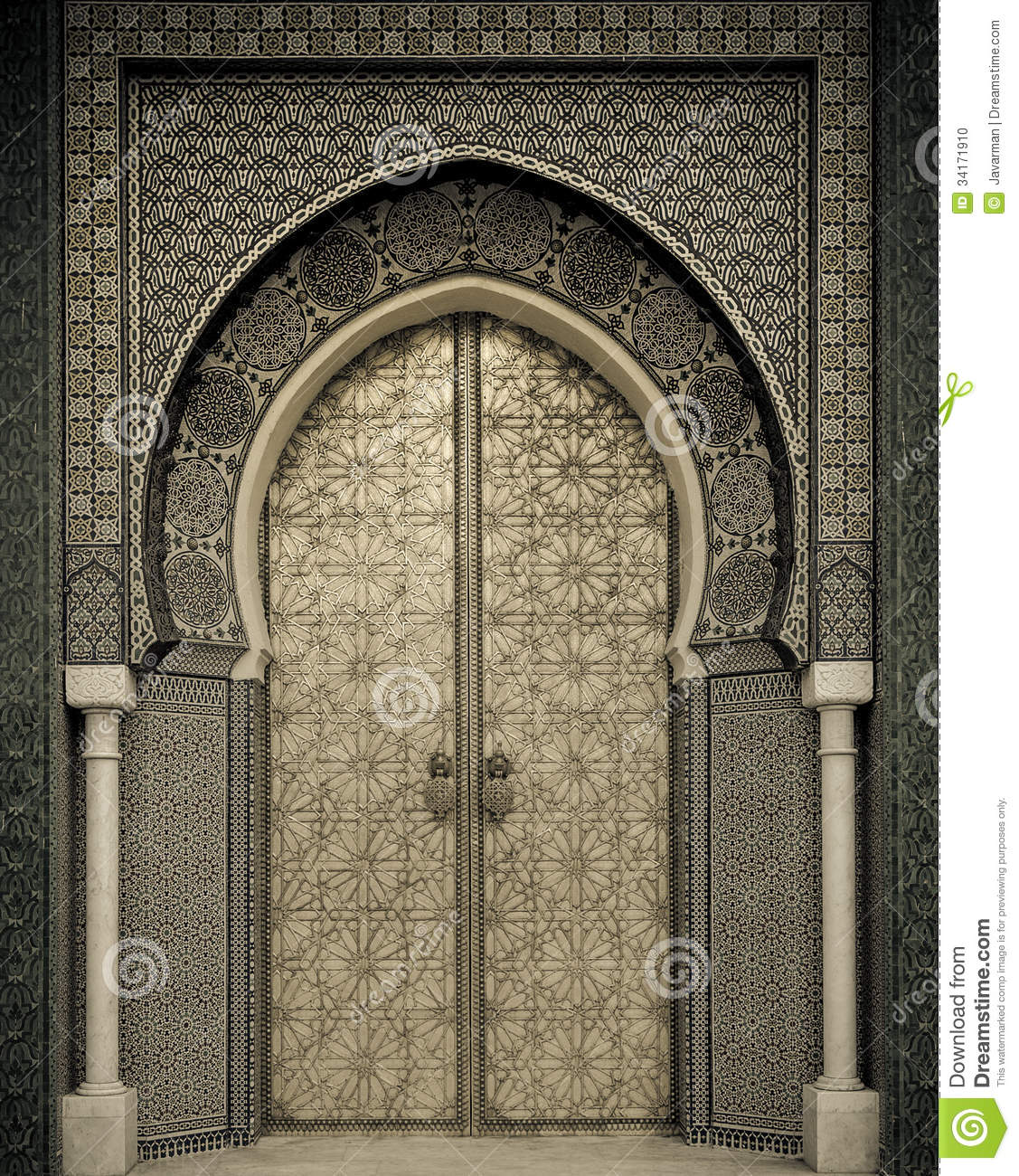 Ancient Doors Morocco Stock Photo Image Of Background