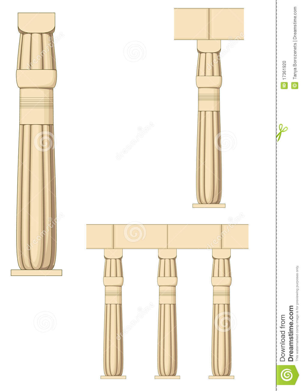 Ancient Egyptian Architecture Columns Ancient Egypt Column Stock Photo