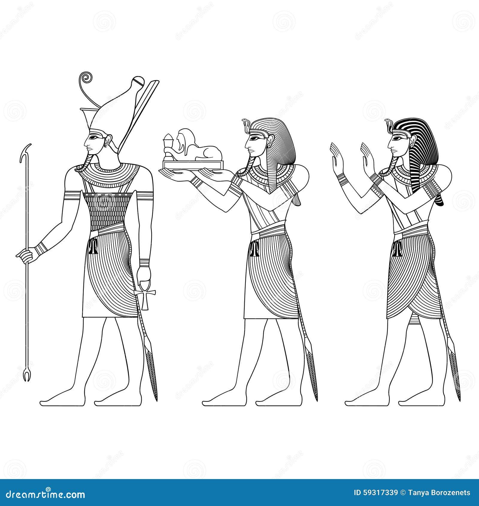 Ancient Egypt Deities Stock Vector Illustration Of Isis